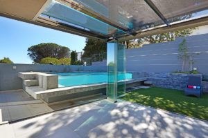 Camps Bay Villa : 6 Views of pool from summer house