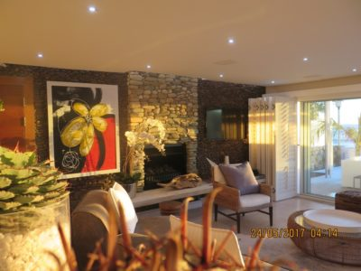 Camps Bay Villa : MAIN HOUSE – FIRE PLACE