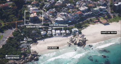 Camps Bay Villa : AERIAL VIEW – VILLAS AND BEACH HOUSE