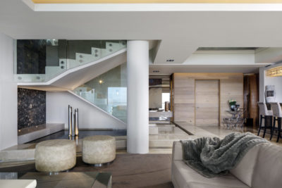 Mouille Point Apartment : 5 bedroom penthouse Mouille Point luxury villa glass staircase